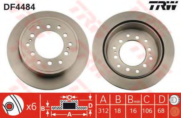 TRW Automotive AfterMarket DF1654 disco de freno